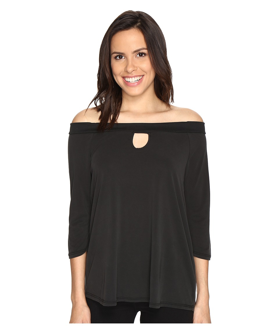 Brigitte Bailey - Kennedy Off the Shoulder Keyhole Top (Black) Women's Clothing