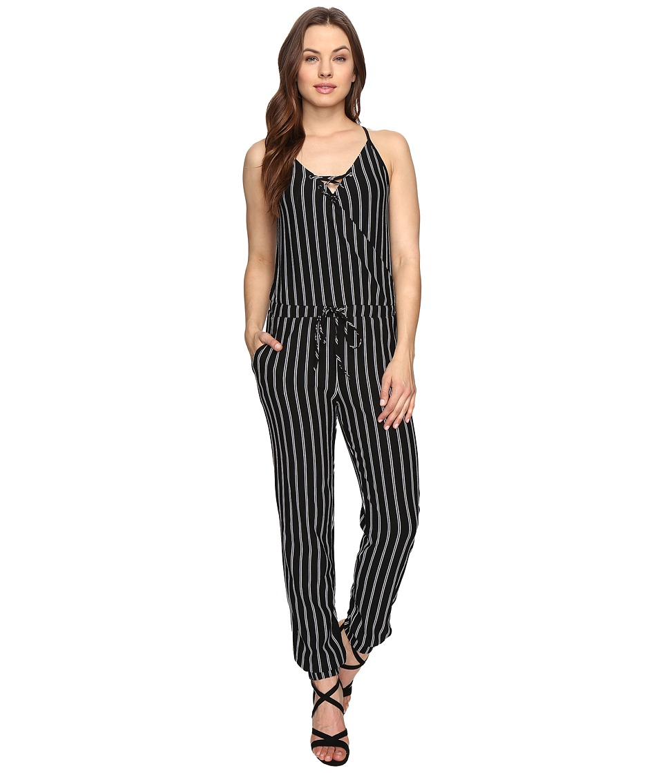 Brigitte Bailey - Leigh Spaghetti Strap Jumper with Front Tie (Black) Women's Jumpsuit & Rompers One Piece