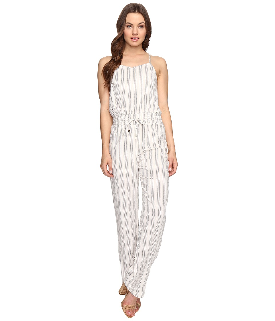 Brigitte Bailey - Ashby Spaghetti Strap Raw-Edge Jumper (Ivory) Women's Jumpsuit & Rompers One Piece