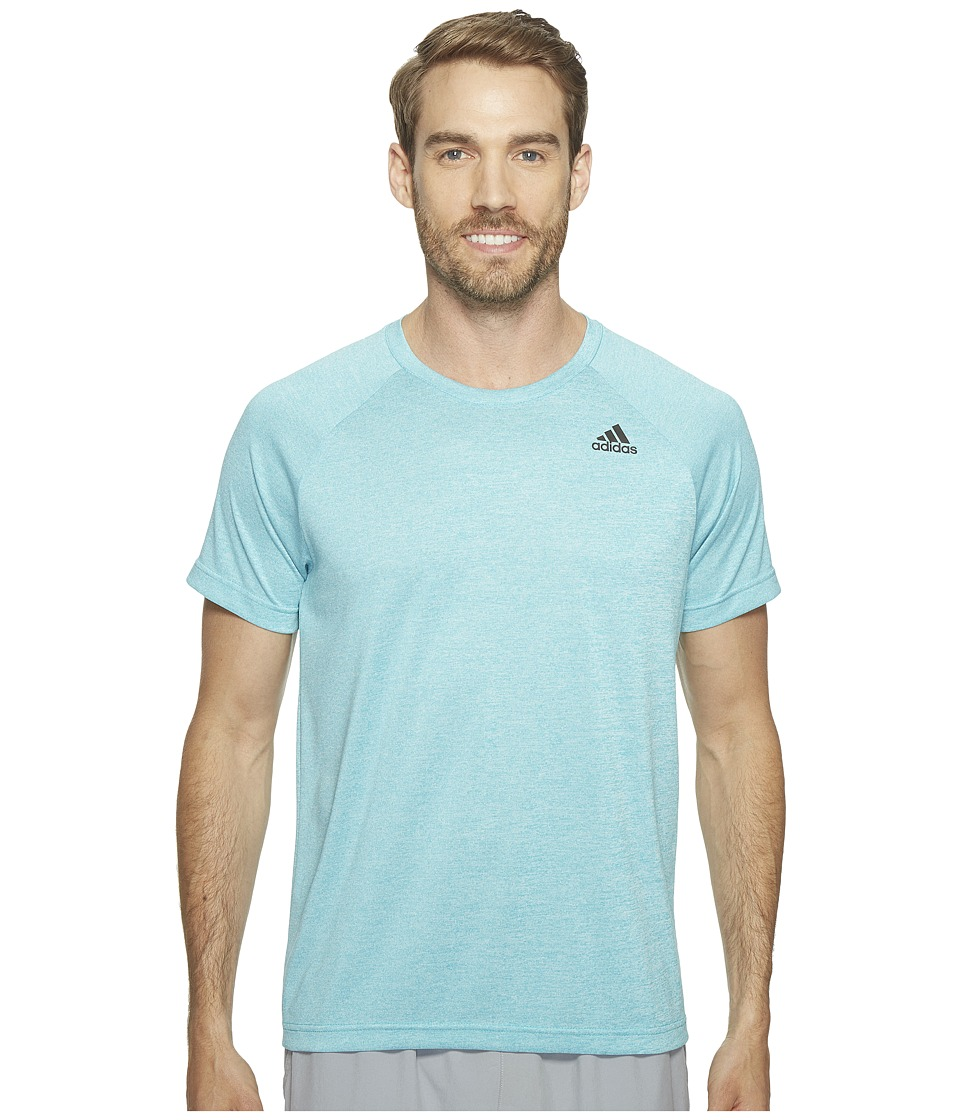 adidas Designed-2-Move Heather Tee (Energy Blue) Men
