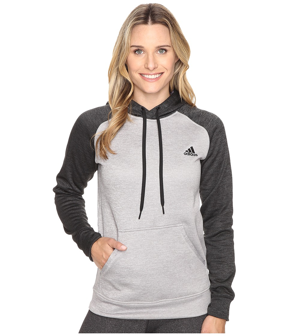 adidas - Team Issue Hoodie - Brushed Logo (Light Grey Heather) Women's Sweatshirt