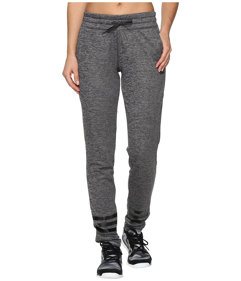 adidas - Team Issue 3 Stripe Fleece Pants (Dark Grey Heather) Women's Fleece