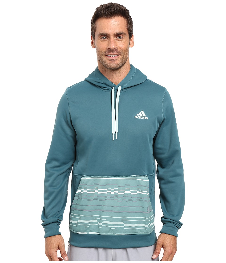 adidas - Team Issue Fleece Pullover Glitch (Tech Green/Vapour Green) Men's Fleece