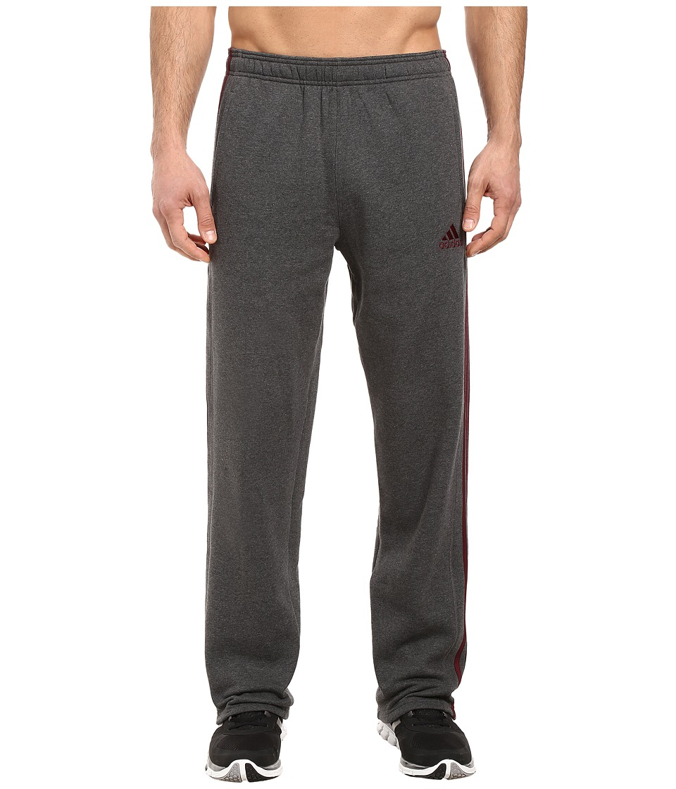 adidas - Essential Cotton Fleece Pants (Dark Grey Heather) Men's Fleece