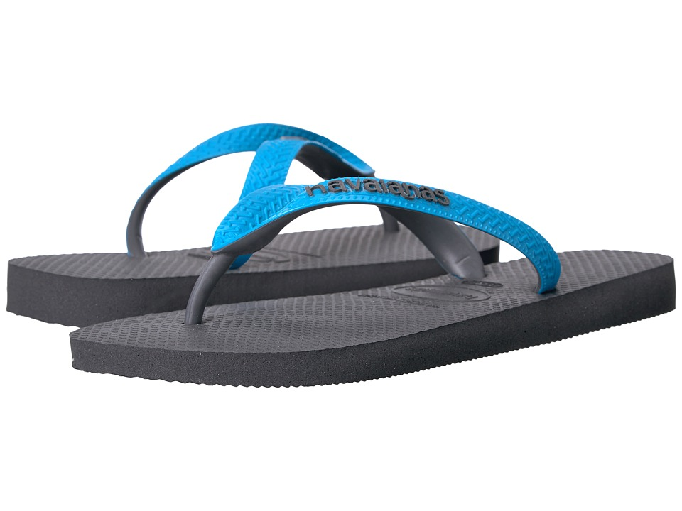 Havaianas - Top Mix Flip Flops (Grey/Turquoise) Women's Sandals