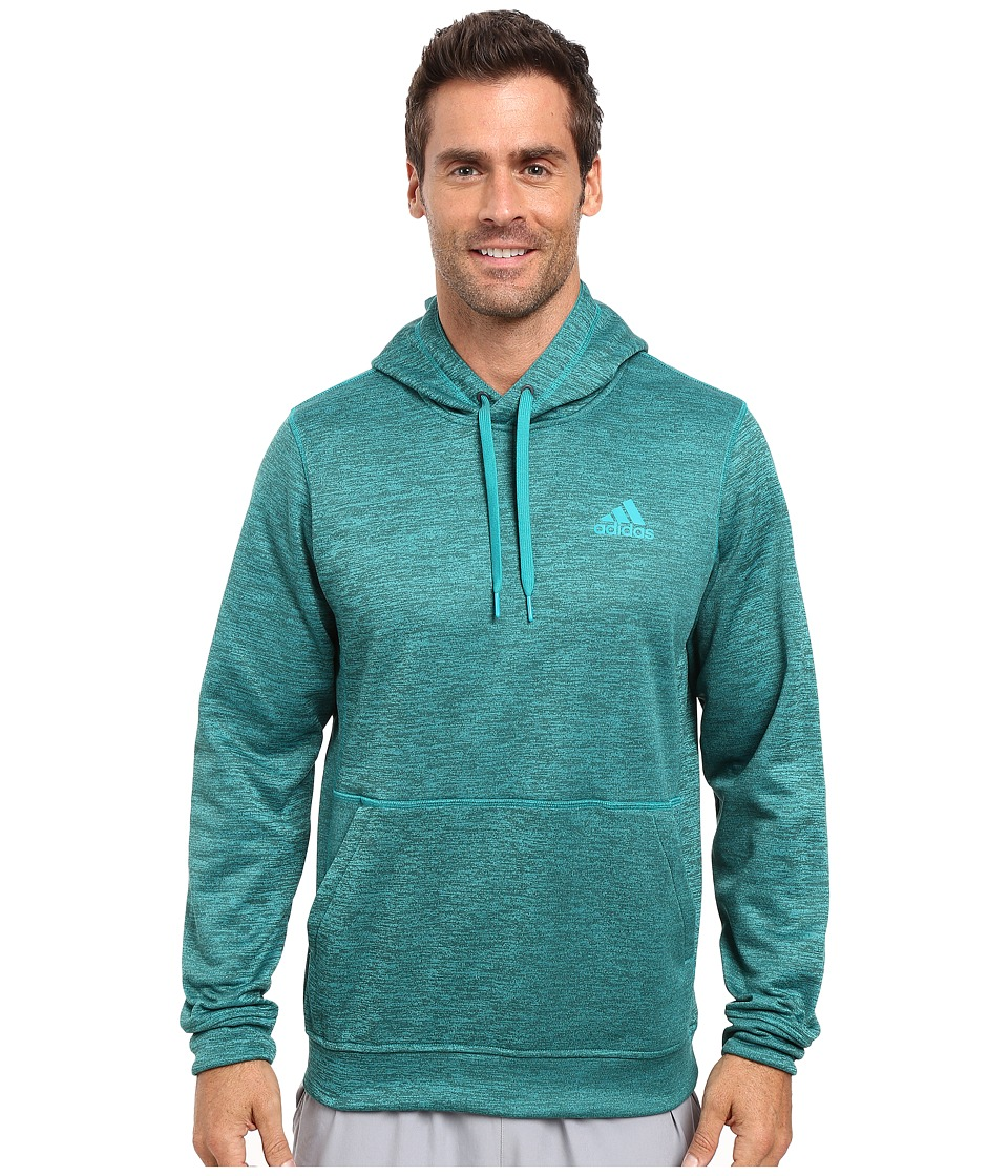 adidas - Team Issue Fleece Pullover Hoodie (Equipment Green/Colored Heather) Men's Sweatshirt