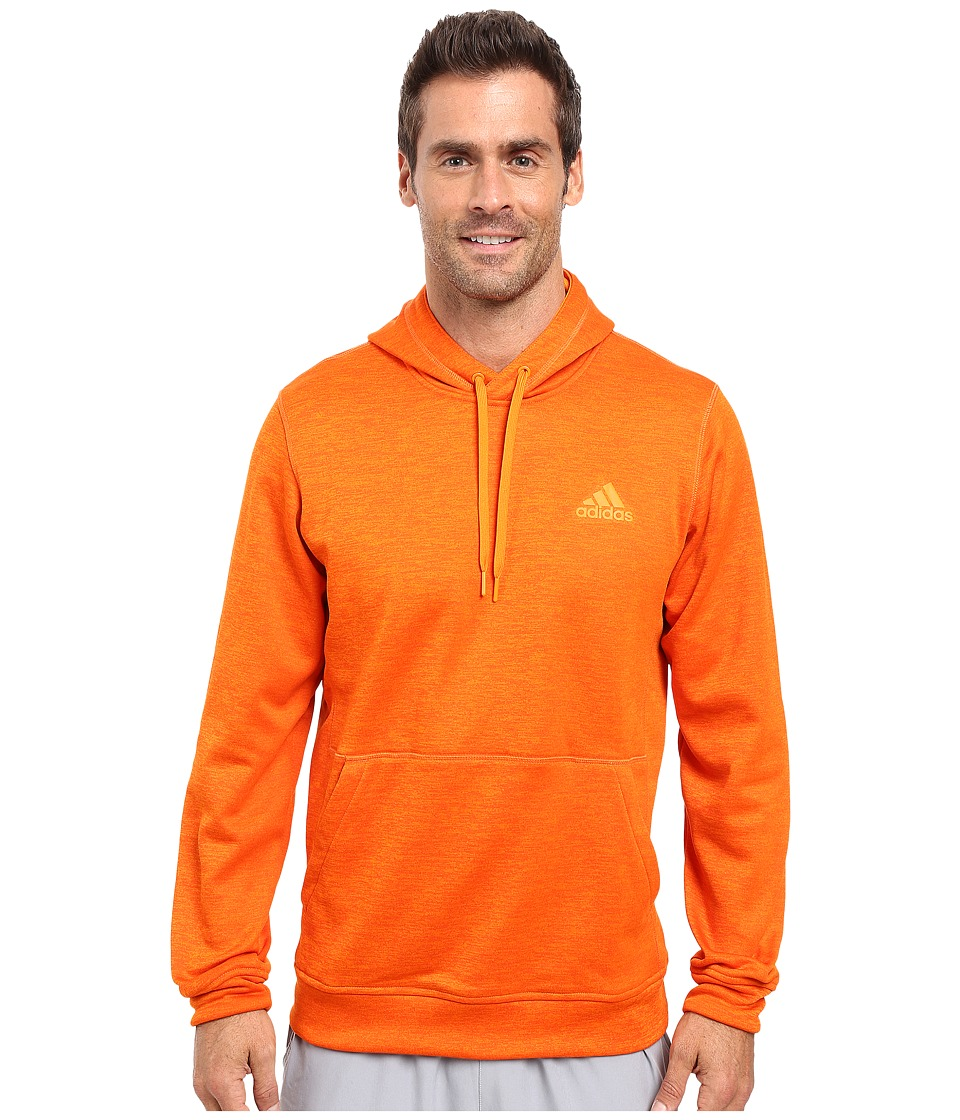 adidas Team Issue Fleece Pullover Hoodie (Bold Orange/Colored Heather) Men
