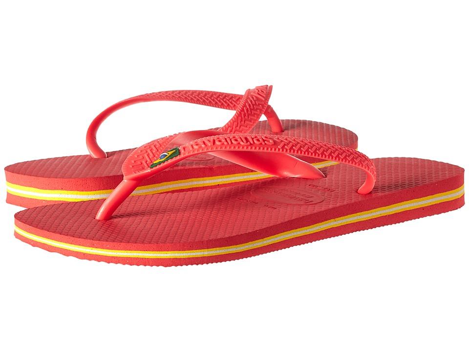Havaianas - Brazil Flip Flops (Coral New) Women's Sandals