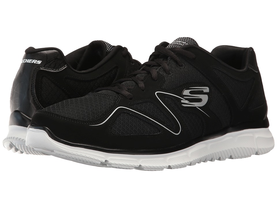 SKECHERS - Satisfaction Flash Point (Black/White) Men's Shoes