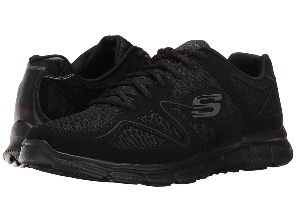 SKECHERS - Satisfaction Flash Point (Black) Men's Shoes
