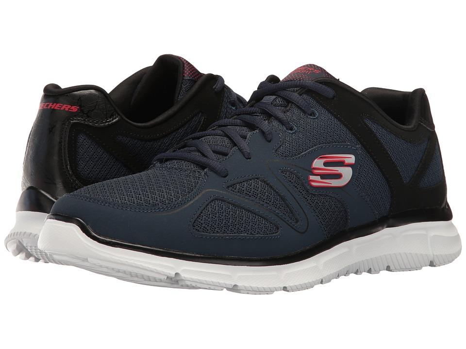 SKECHERS - Satisfaction Flash Point (Navy/Black) Men's Shoes