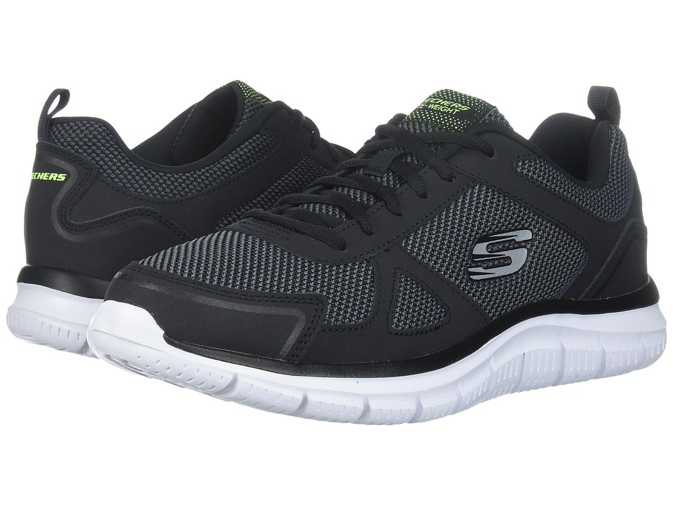 SKECHERS - Track (Black/White) Men's Shoes