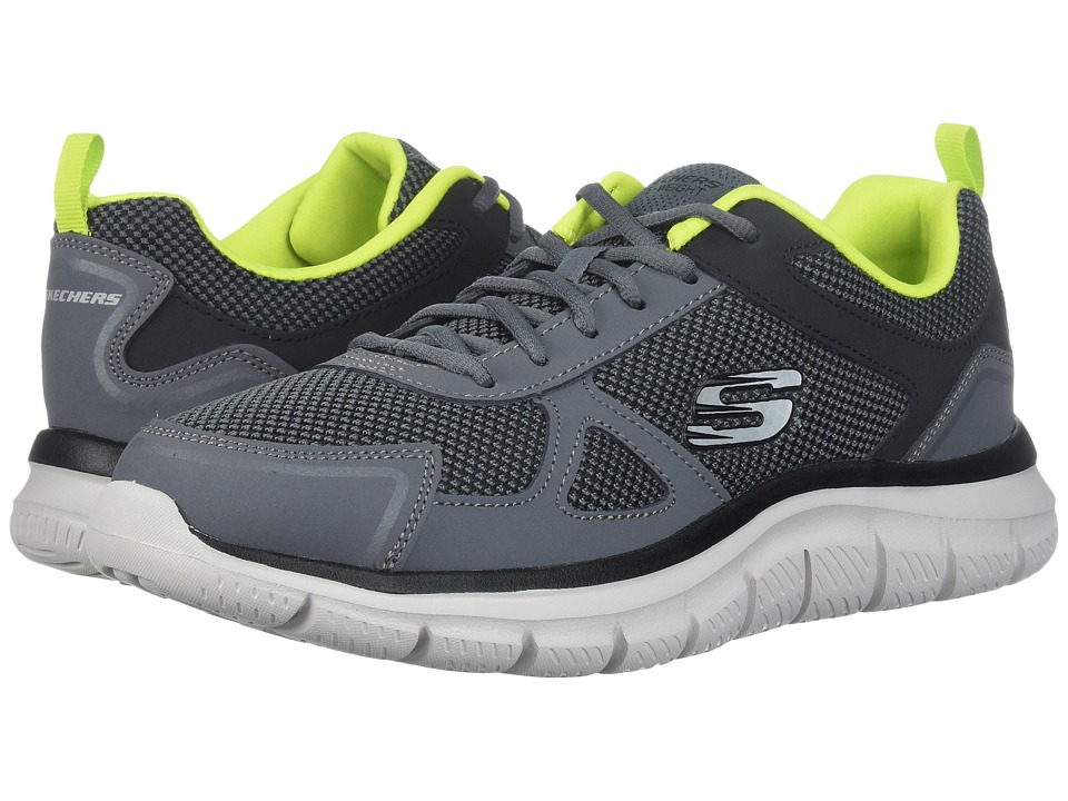 SKECHERS Track (Charcoal/Lime) Men