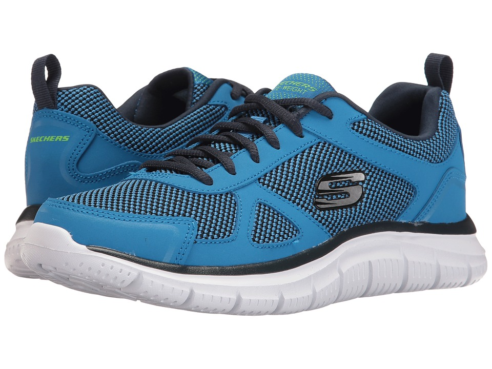 SKECHERS - Track (Blue/Lime) Men's Shoes