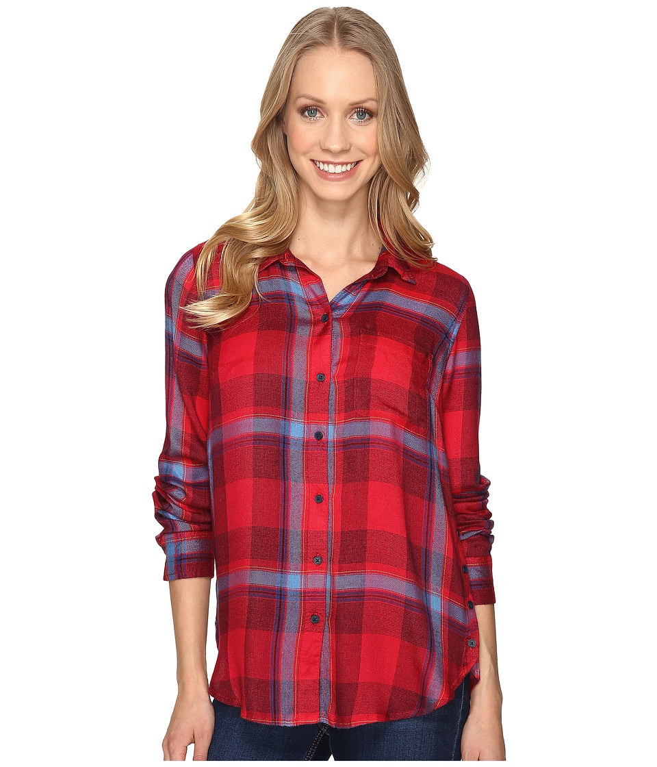 Lucky Brand - Button Side Shirt (Red Multi) Women's Clothing