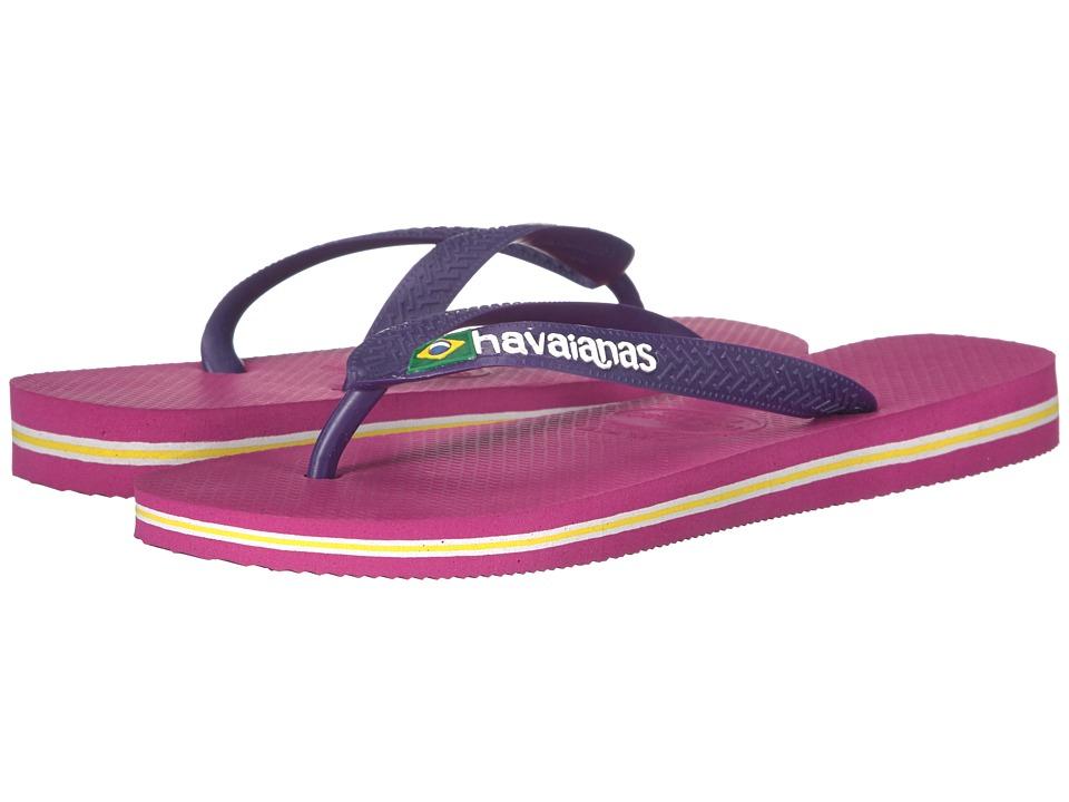 Havaianas - Brazil Logo Flip Flops (Raspberry Rose) Women's Sandals