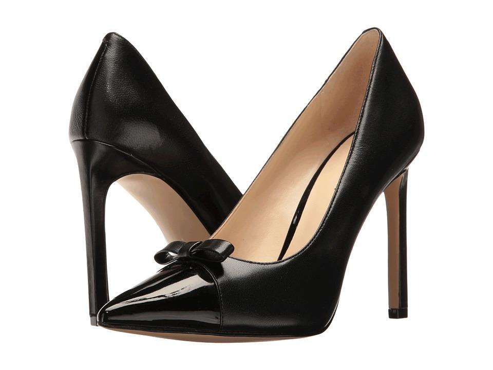 Nine West - Thaliah (Black Leather) High Heels