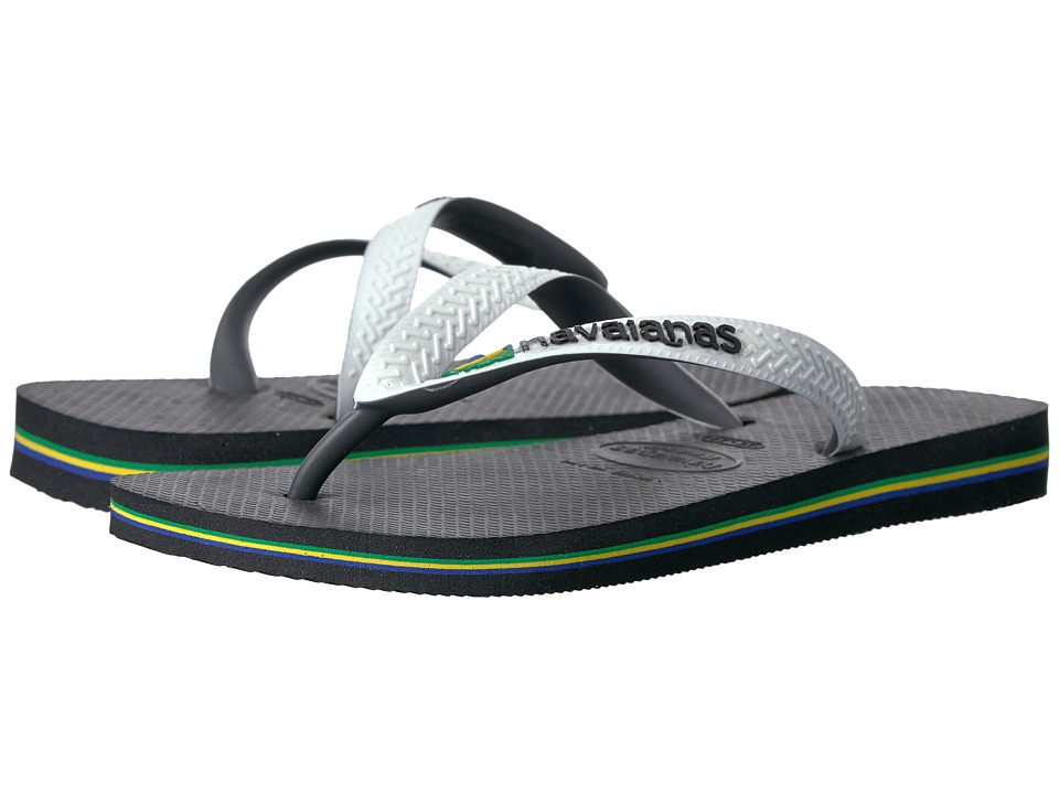 Havaianas Brazil Mix Flip Flops (Black/White) Women