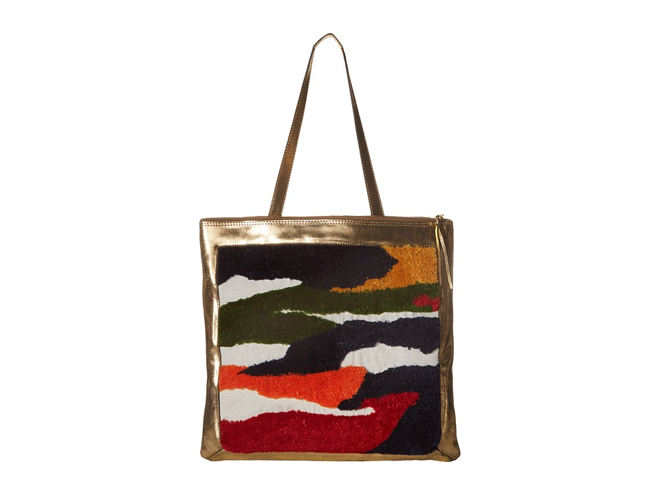 Rachel Comey - Embroidered Sleeve Tote (Old Gold/Abstract) Tote Handbags