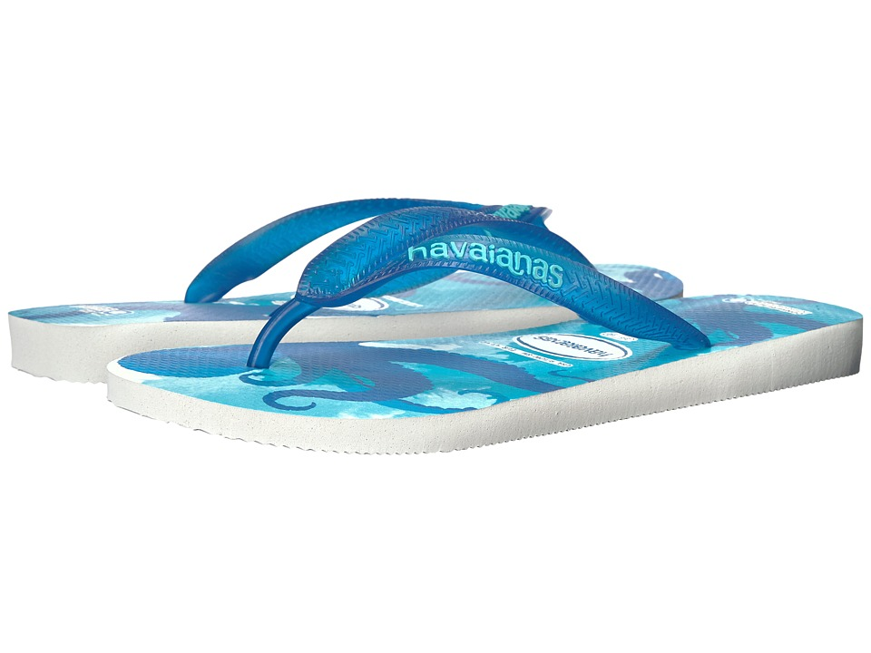 Havaianas Conservation International Flip Flops (White/Blue Star) Women