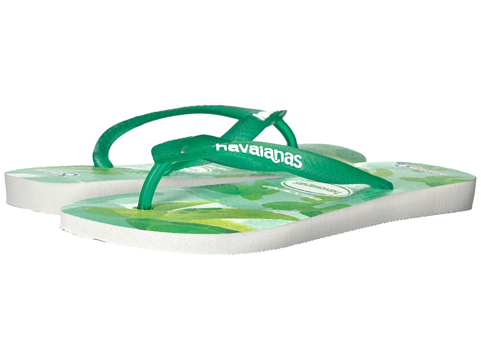 Havaianas - Conservation International Flip Flops (White/Green) Women's Sandals