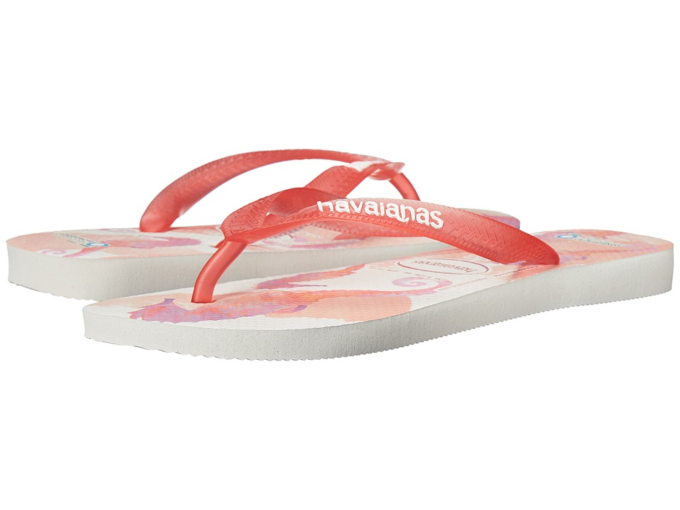 Havaianas - Conservation International Flip Flops (White/Rose) Women's Sandals