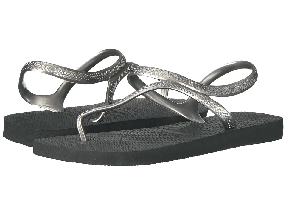 Havaianas - Flash Urban Flip Flops (Black/Silver) Women's Shoes