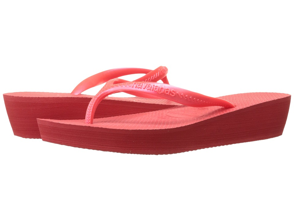 Havaianas High Light Flip Flops (Coral New) Women