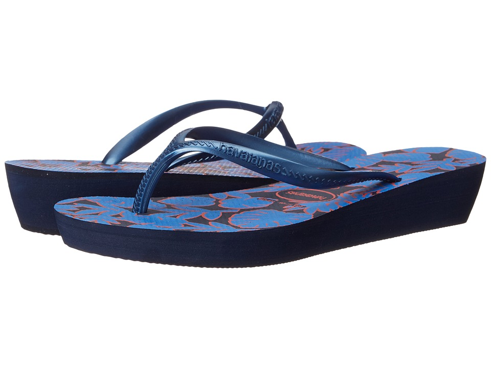 Havaianas High Light II Flip Flops (Blue/Blue) Women