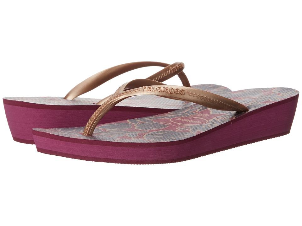 Havaianas - High Light II Flip Flops (Pink/Rose Gold) Women's Sandals