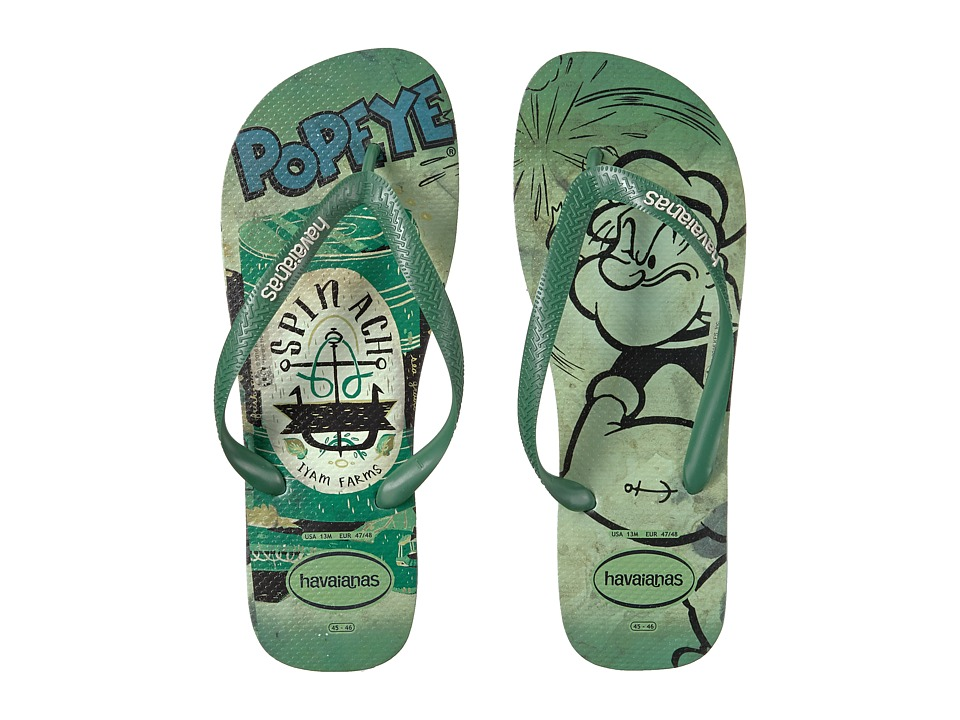 Havaianas - Popeye Flip-Flops (Mentha Green) Men's Sandals