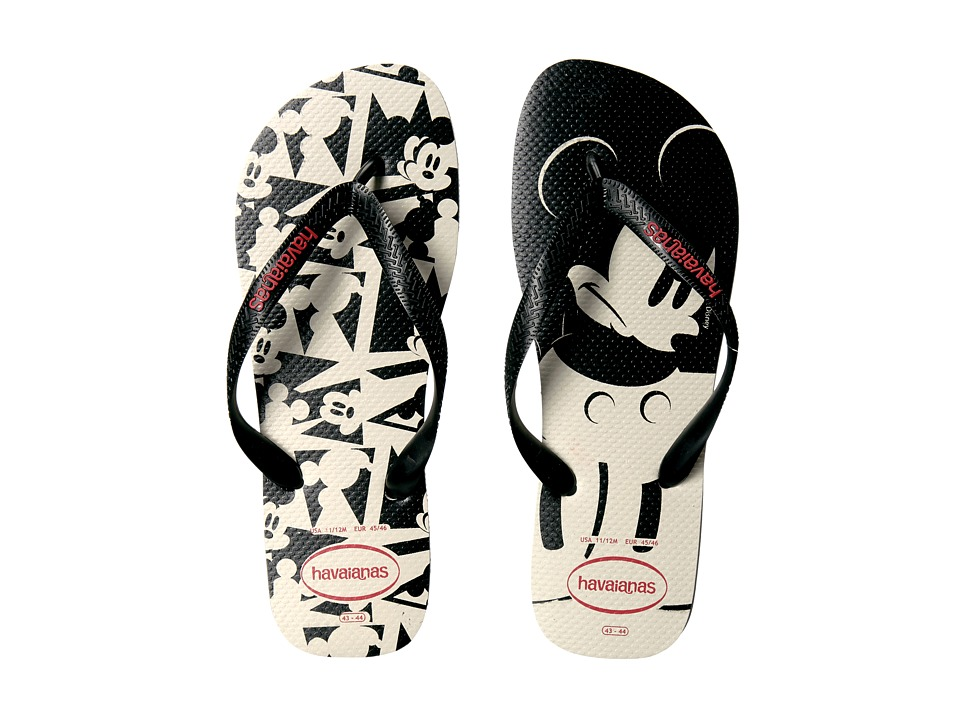 Havaianas - Disney Stylish (White/Black) Men's Slippers