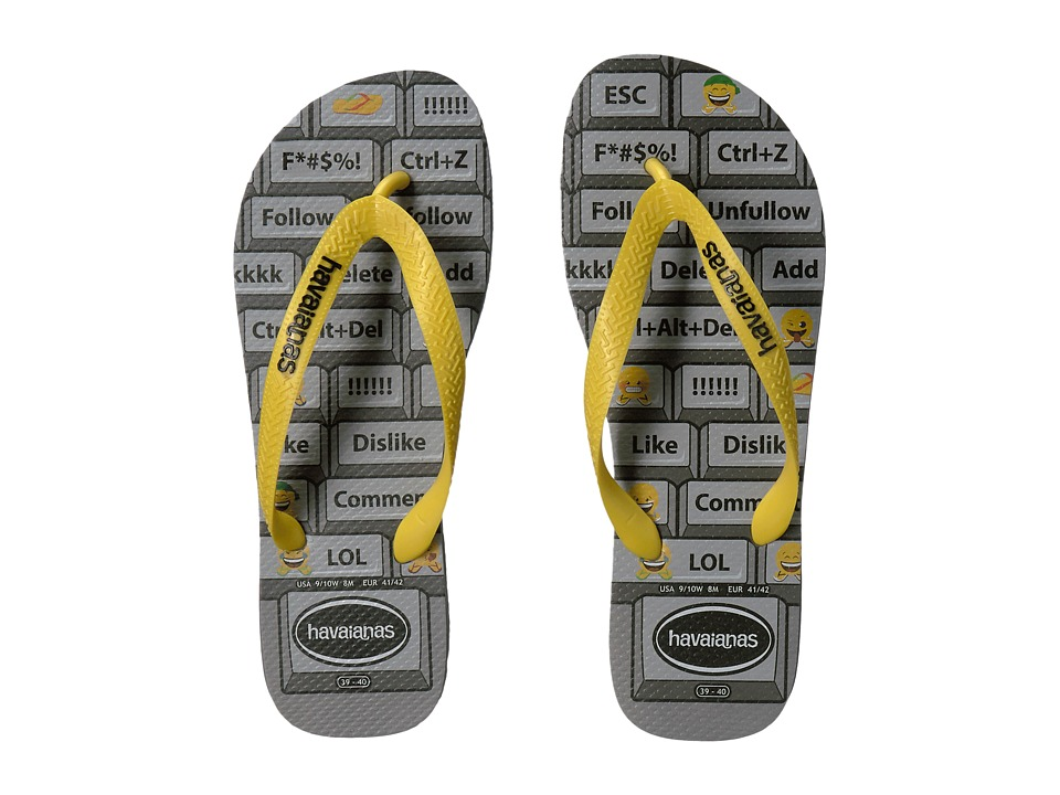Havaianas - Mood Flip-Flops (Steel Grey/Citrus Yellow) Men's Sandals