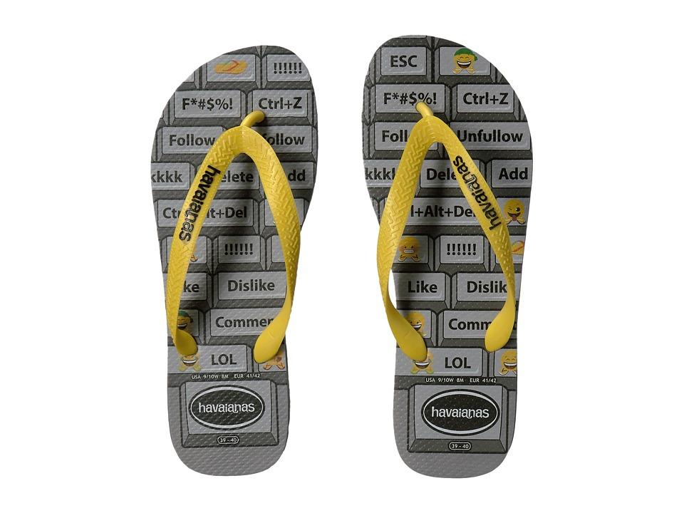 Havaianas - Mood Flip-Flops (Steel Grey/Citrus Yellow) Men's Sandals