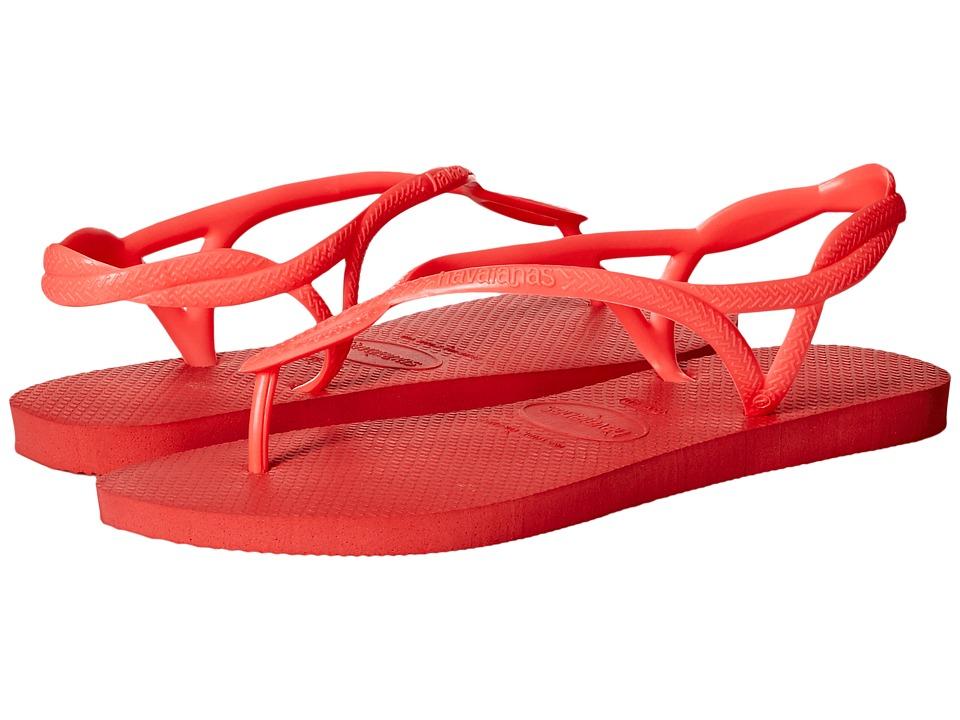 Havaianas - Luna Flip Flops (Coral New) Women's Sandals