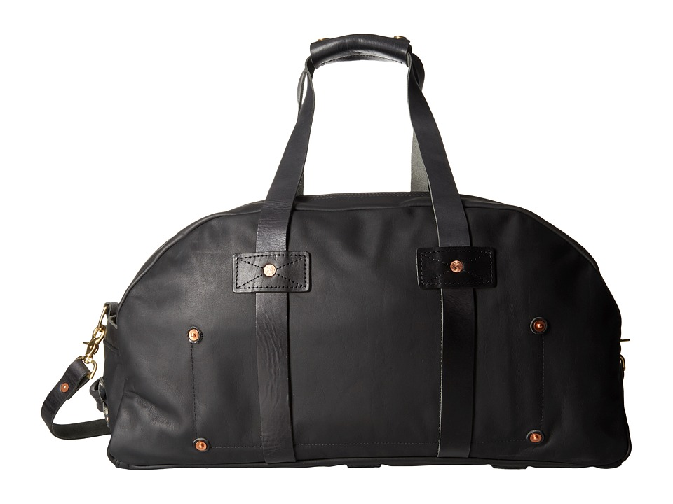 Billy Reid - Worn Leather Double Zip Duffel Bag (Black) Duffel Bags
