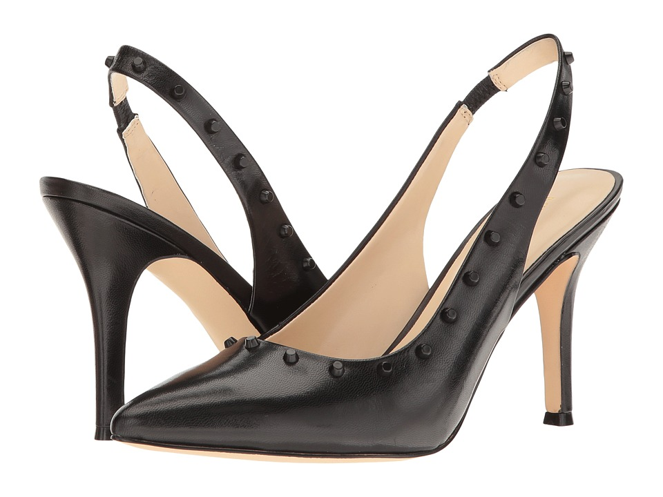 Nine West - Fauna (Black Leather) High Heels