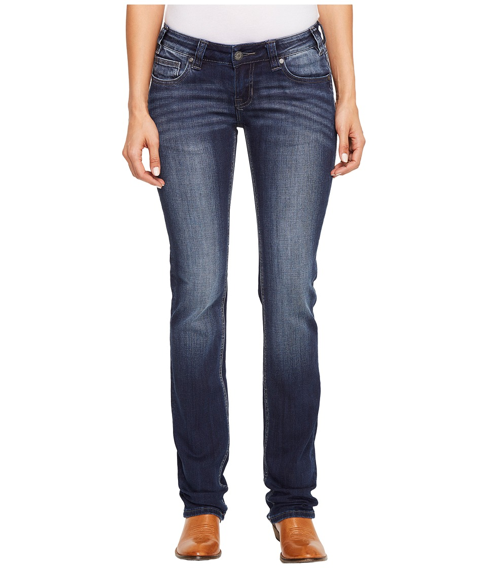 Rock and Roll Cowgirl - Rival Straight Leg in Dark Vintage W61381S (Dark Vintage) Women's Jeans