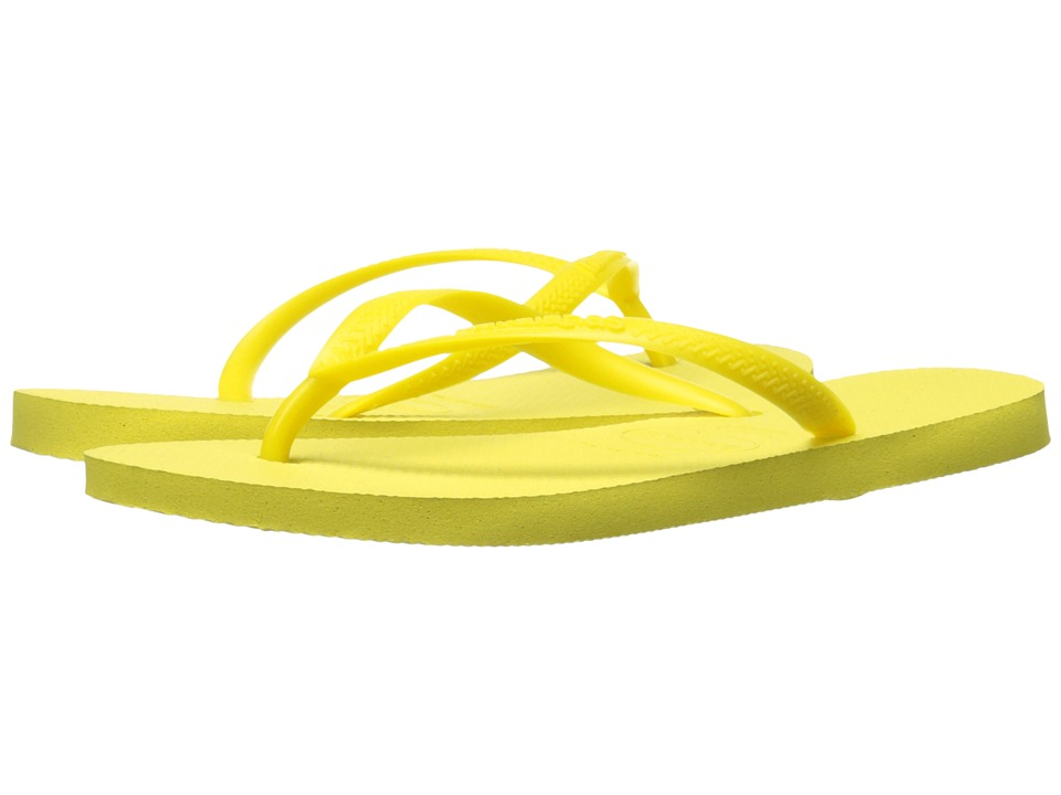 Havaianas - Slim Flip Flops (Light Yellow 1) Women's Sandals