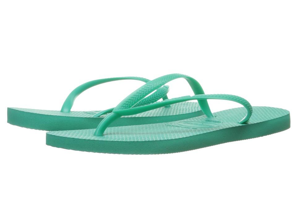 Havaianas - Slim Flip Flops (Mint Green 1) Women's Sandals