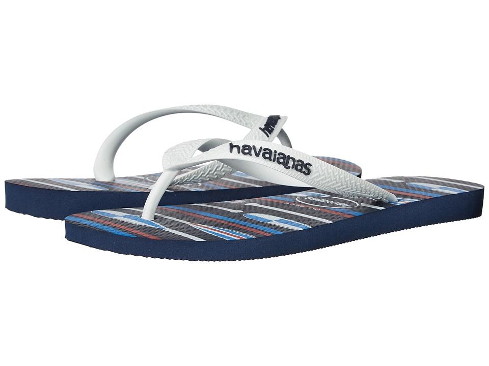 Havaianas - Top Nautical Flip-Flops (Navy Blue/White) Men's Sandals