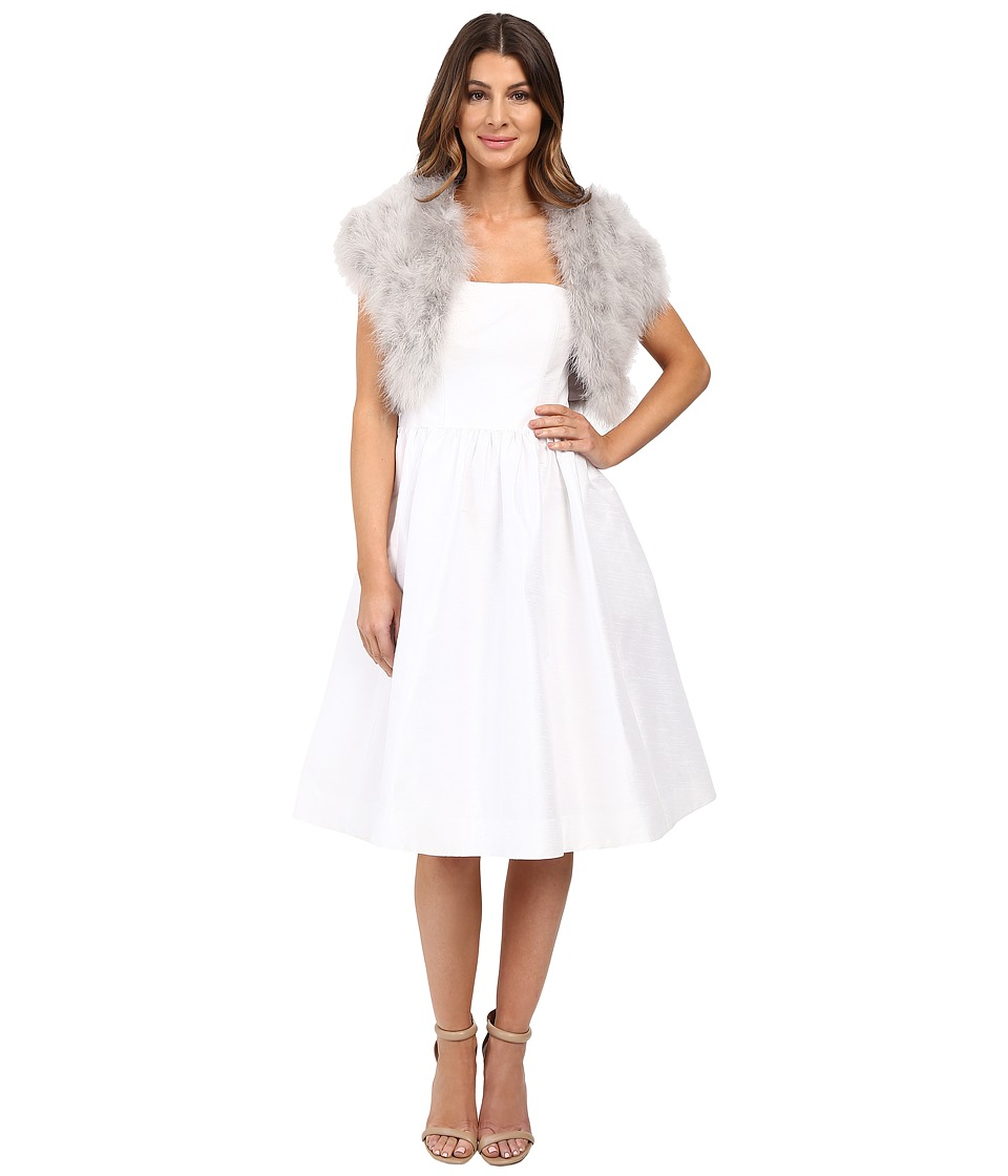Betsey Johnson - Blue By Betsey Promise Marabou Shrug (Grey) Women's Clothing