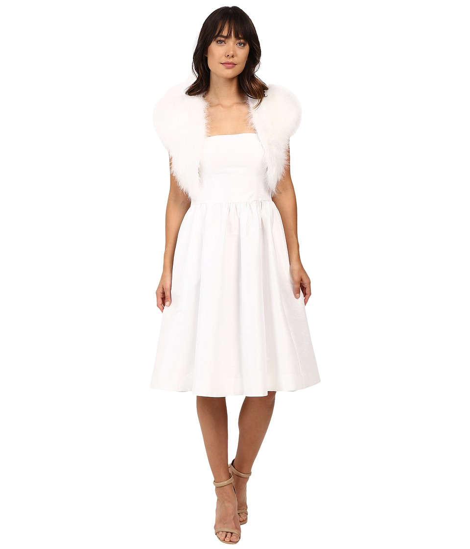 Betsey Johnson - Blue By Betsey Promise Marabou Shrug (White) Women's Clothing