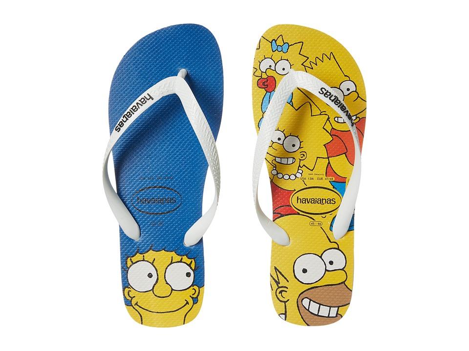 Havaianas - Simpsons Flip-Flops (White) Men's Sandals