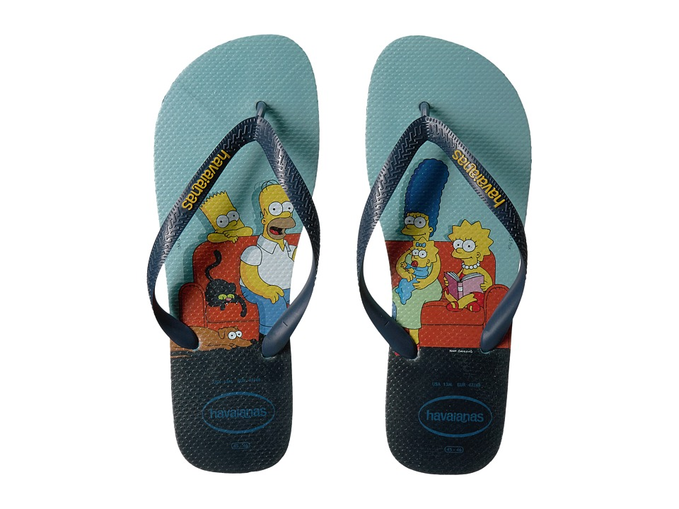 Havaianas - Simpsons Flip-Flops (Blue) Men's Sandals