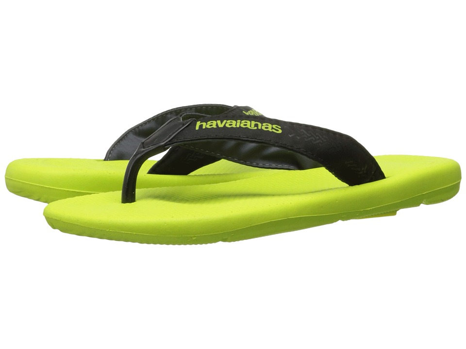 Havaianas - Surf Pro Flip Flops (Yellow Led/Black) Men's Sandals