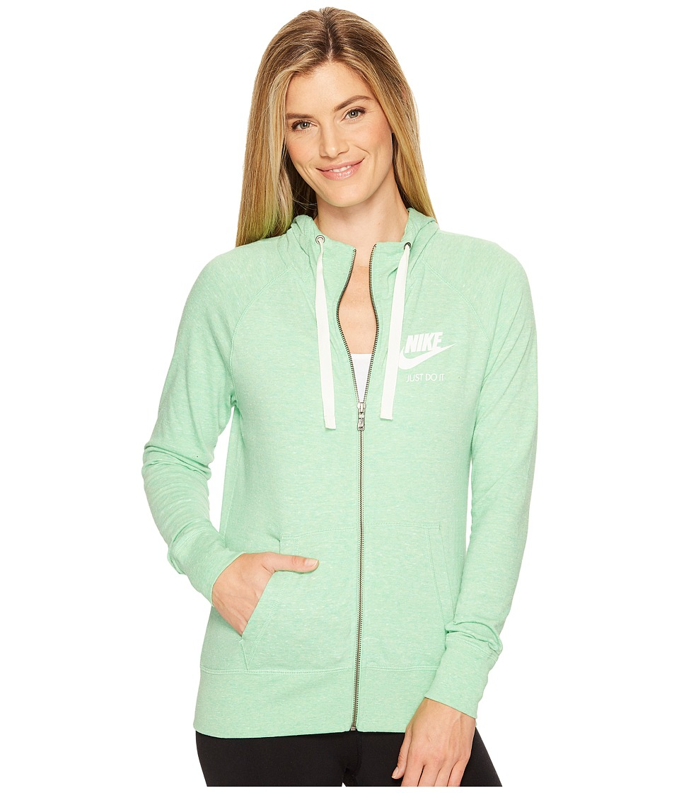 Nike - Sportswear Full-Zip Hoodie (Tourmaline/Sail) Women's Sweatshirt