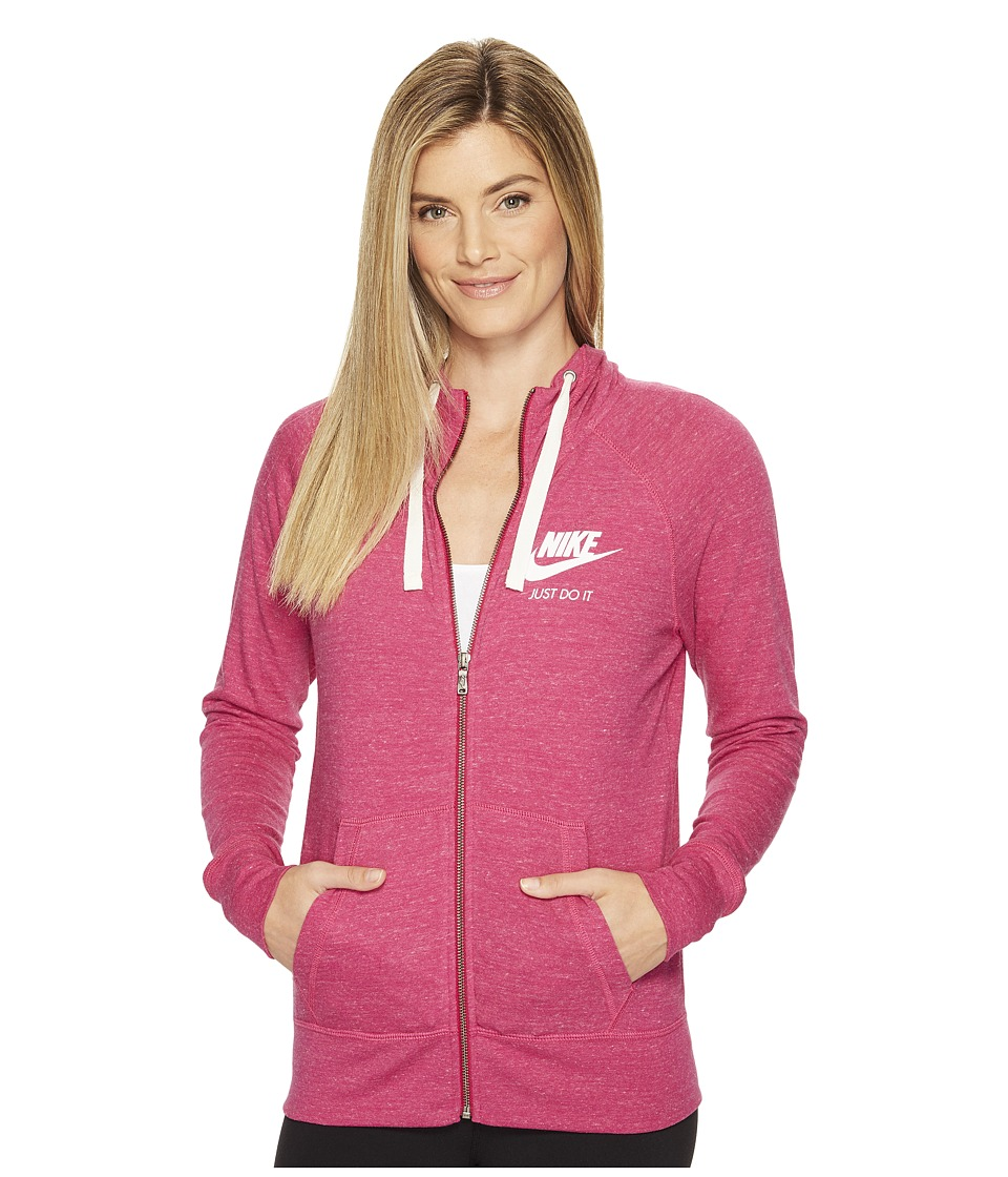 Nike - Sportswear Full-Zip Hoodie (Sport Fuchsia/Sail) Women's Sweatshirt