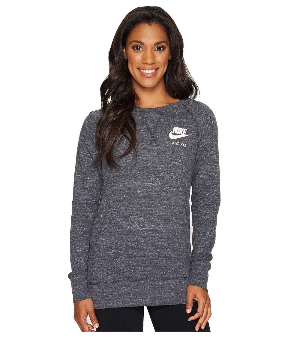 Nike - Sportswear Gym Vintage Crew (Anthracite/Sail) Women's Clothing