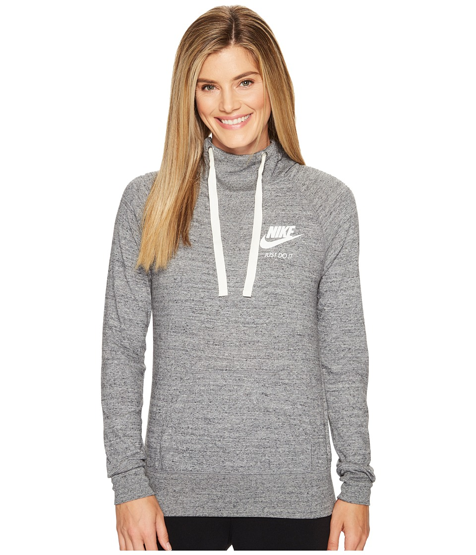 Nike - Sportswear Pullover Hoodie (Carbon Heather/Sail) Women's Sweatshirt